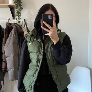 FIORUCCI Safety Jeans Deadstock Green Puffer Vest